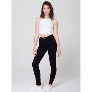 American Apparel Black High Rise Skinny Jeans